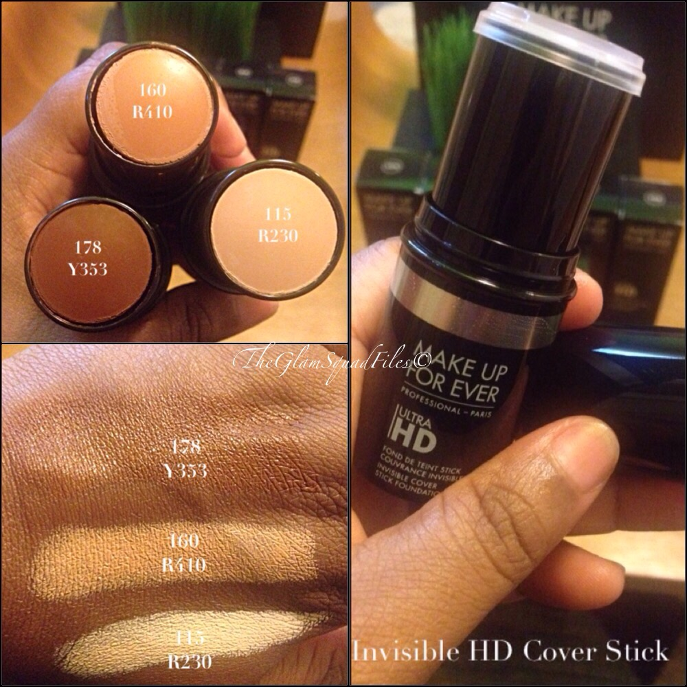 Makeup Forever Foundation Stick Swatches